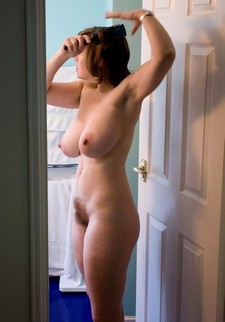 Fabulous brunette in amazing rookie vagina pic.