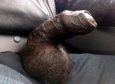 Huge black balls and very fat dick